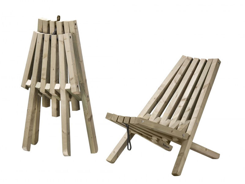 Field chair outdoor wood