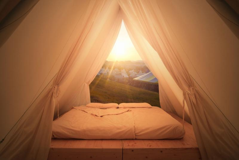 Lushna Air glamping tent cabin luxury hospitality camp