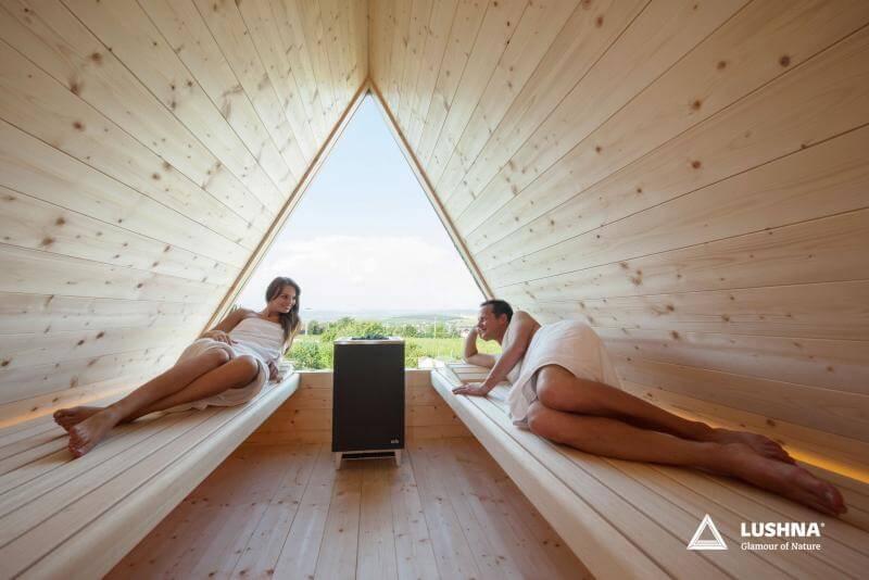 lushna outdoor sauna glamping wooden finnish luxury wood wellness spa buy manufacturer