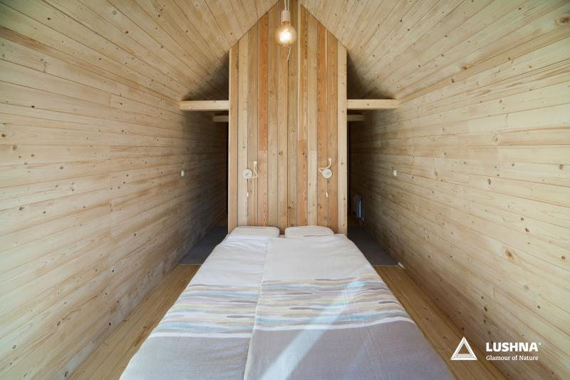 Lushna Suite Mezzanine glamping cabin cottage wooden bungalow