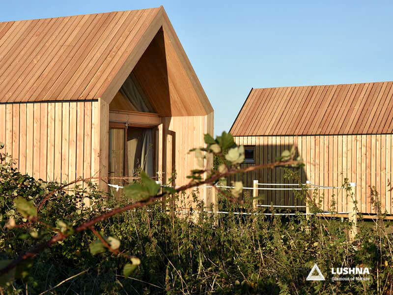 Lushna Suite Lux glamping cottage cabin pod wooden UK